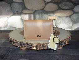 New with Tags, Michael Kors Key Ring Card Holder in Acorn