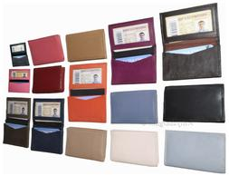 New women men's Leather Business Credit Card ID card Holder