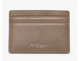NWT Michael Kors Harrison Men's Leather Card Case Taupe Gift