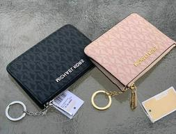 NWT Michael Kors Jet Set Travel Coin Wallet Wristlet ID Card