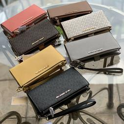Michael Kors Women Leather Card Holder Phone Case Wallet Clu