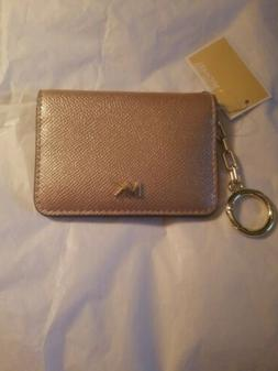 NWT Michael Kors Leather Key Ring/Card Holder Leather Ballet