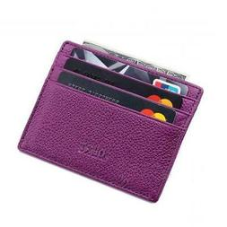 nwt slim leather wallet credit card case