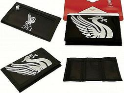 LIVERPOOL FC NYLON CLUB CRESTED MONEY WALLET COIN & CREDIT I