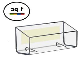 One Clear Acrylic Plastic, Peel & Stick Wall Mount Business