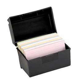 Oxford 01351 Plastic Index Card Flip Top File Box Holds 300
