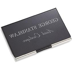 Personalized Carbon Fiber Business Card Case Holder Engraved