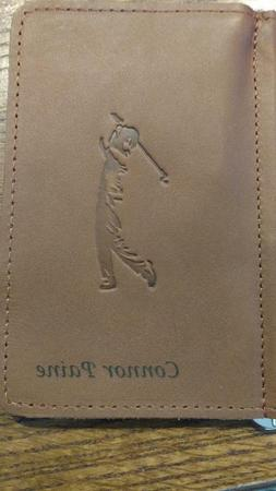 Personalized Leather Golf Score Card Holder