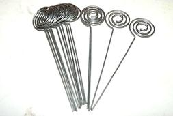 50/Pack Place Card Holder Pick,Ring Loop Swirl Wire Clip Pho