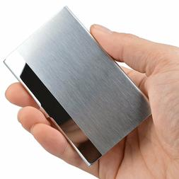 pocket stainless steel and metal business card