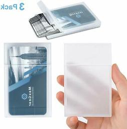 MaxGear Professional Plastic Business Card Holder Pocket Bus