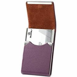 PU Leather Business Card Holder For Women Professional Name