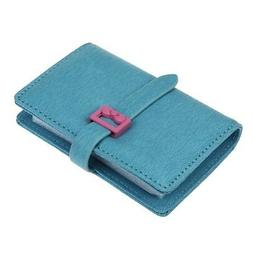 DKER PU Leather Credit Card Holder with Cute Bowknot - Book
