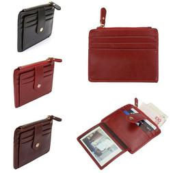 PU Leather Unisex Pocket Business ID Credit Card Holder Case