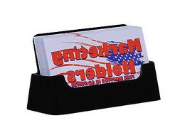 Qty 10 Business Card Holders Black Lucite Display Stands