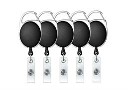 Retractable Badge Holder Carabiner Reel Clip On ID Card Hold