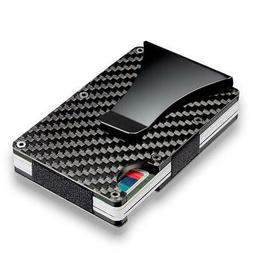 RFID Blocking Carbon Fiber Minimalist Ridge Money Clip Men's