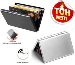 RFID Blocking Credit Card ID Holder Slim Money Travel Wallet