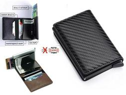 RFID Blocking Genuine Leather Credit Card Holder Money Cash