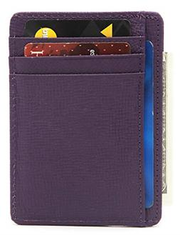 rfid blocking genuine leather credit card holder
