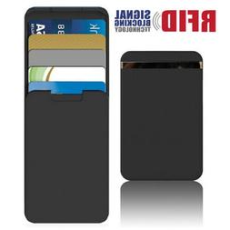 RFID Blocking Minimalist Wallet Card Holder Push-Pull Anti-S