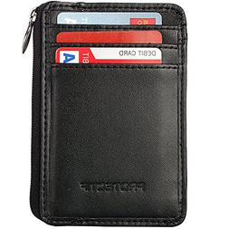 Rfid Blocking Sleeves Front Pocket Wallet for Men, Secure Cr