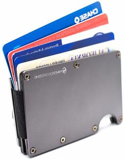 Rfid-Blocking Slim Minimalist Card Holder/Travel Wallet For
