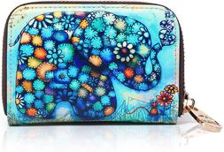 APHISON RFID Credit Card Holder Wallets for Women Leather Zi