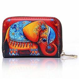 APHISON RFID Credit Card Holder Wallets for Women Leather Ca