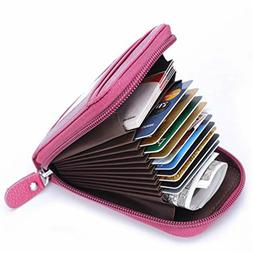Rfid secure Blocking all Credit Card Holder Leather Wallets