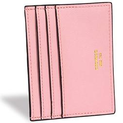 rfid slim leather card case wallet minimalist