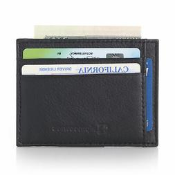 Alpine Swiss RFID Thin Minimalist ID Card Case Front Pocket