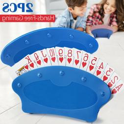 Set of Two Hands Free Playing Card Holders Plastic Table Top