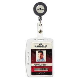 Durable Shell-Style Id Card Holder, Vertical/Horizontal, Wit