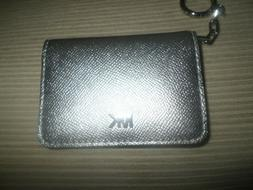 Michael Kors Silver Money Pieces Leather Card Holder Wallet