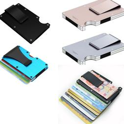 Slim Carbon Fiber Credit Card Holder RFID Blocking Metal Mon