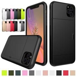 Card Holder Wallet Hybrid Case Cover For iPhone 11 Pro MAX X