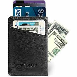 Slim Leather Wallets for Men - Mens Front Pocket Card Holder
