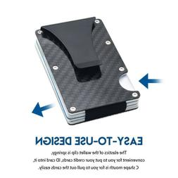 Slim Metal Carbon Fiber Credit Card Holder RFID Blocking Wal