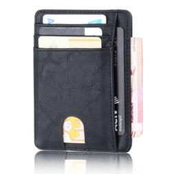 slim rfid blocking leather font b wallet