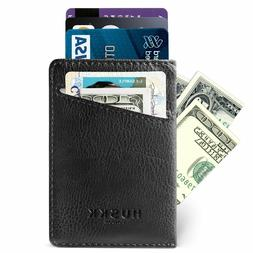 Slim RFID Wallets for Men Leather - Front Pocket Card Holder