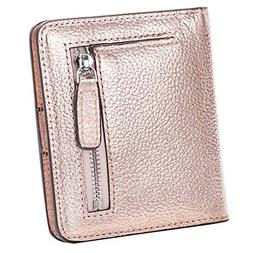 AINIMOER Small Leather Wallet for Women, Ladies Credit Card