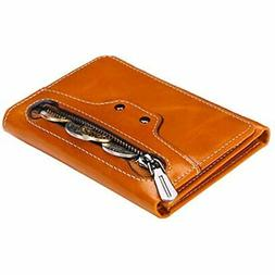 Small Leather Wallet For Women, Slim Compact Credit Card Hol