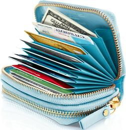 Small Leather Womens Wallet With Coin Pouch And Credit Card