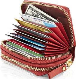 small leather zipper wallets for women credit