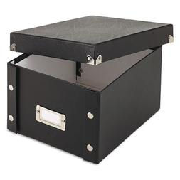 Snap 'N Store Collapsible Index Card File Box Holds 1,100 4