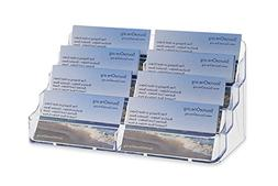 Source One 8 Pocket Desktop Clear Acrylic Business Card Hold