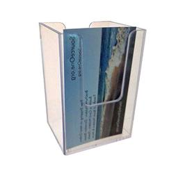 Source One Vertical Business Card Holder, Clear