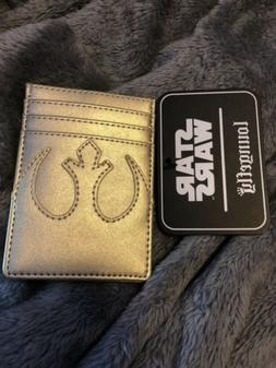 Loungefly Star Wars Gold Rebel Cardholder ID Wallet NEW