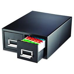 STEELMASTER Large Double Card File Drawer, Fits 5 x 8 Cards,